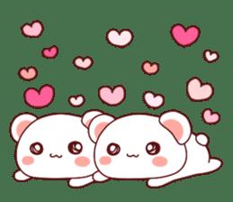 Fluffy Bear Shout the love! pinky! sticker #10834712