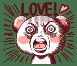 Fluffy Bear Shout the love! pinky! sticker #10834715