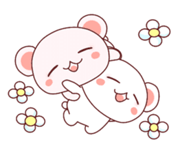 Fluffy Bear Shout the love! pinky! sticker #10834717