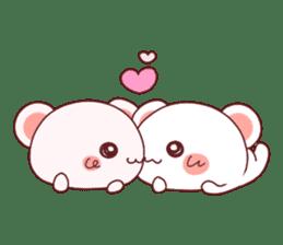 Fluffy Bear Shout the love! pinky! sticker #10834719