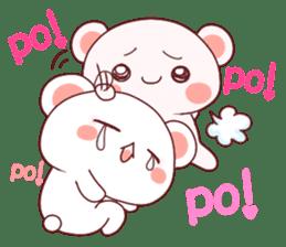 Fluffy Bear Shout the love! pinky! sticker #10834720