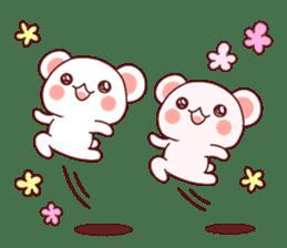 Fluffy Bear Shout the love! pinky! sticker #10834721