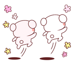 Fluffy Bear Shout the love! pinky! sticker #10834722