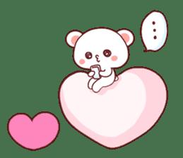 Fluffy Bear Shout the love! pinky! sticker #10834723