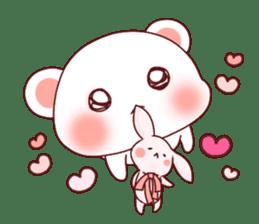 Fluffy Bear Shout the love! pinky! sticker #10834726