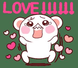 Fluffy Bear Shout the love! pinky! sticker #10834729