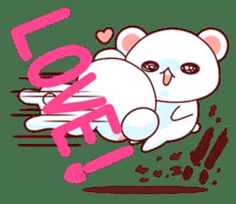 Fluffy Bear Shout the love! pinky! sticker #10834730