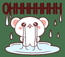 Fluffy Bear Shout the love! pinky! sticker #10834731