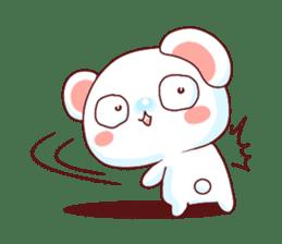 Fluffy Bear Shout the love! pinky! sticker #10834734