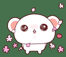 Fluffy Bear Shout the love! pinky! sticker #10834735