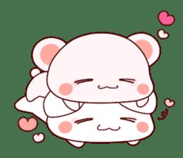 Fluffy Bear Shout the love! pinky! sticker #10834736