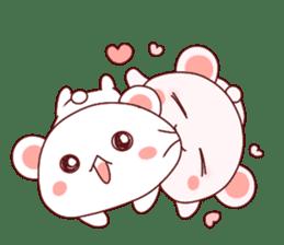 Fluffy Bear Shout the love! pinky! sticker #10834738