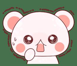Fluffy Bear Shout the love! pinky! sticker #10834739