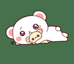 Fluffy Bear Shout the love! pinky! sticker #10834740