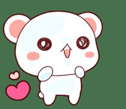 Fluffy Bear Shout the love! pinky! sticker #10834742