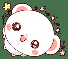 Fluffy Bear Shout the love! pinky! sticker #10834743