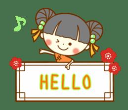 Lingling of China dress sticker #10836028