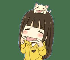 animal&girl sticker2 sticker #10837598