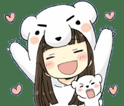 animal&girl sticker2 sticker #10837614