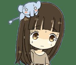 animal&girl sticker2 sticker #10837619