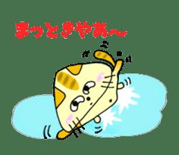 SankakuNyan nori tsukkomi Kansai dialect sticker #10852225