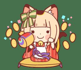 Manekineko girl sticker #10853129
