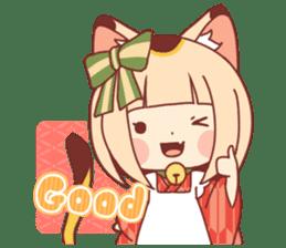 Manekineko girl sticker #10853134