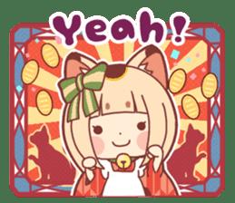 Manekineko girl sticker #10853135