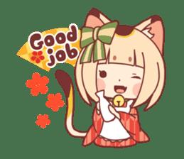 Manekineko girl sticker #10853139