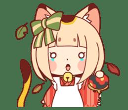 Manekineko girl sticker #10853141