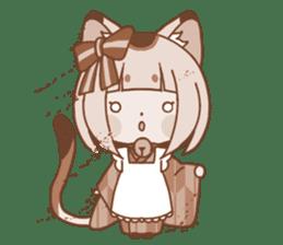 Manekineko girl sticker #10853143