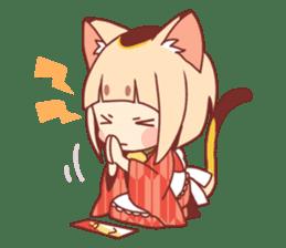Manekineko girl sticker #10853151