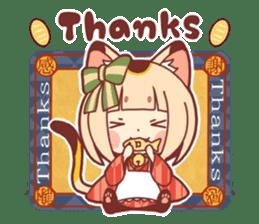 Manekineko girl sticker #10853153