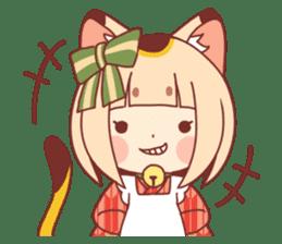 Manekineko girl sticker #10853156