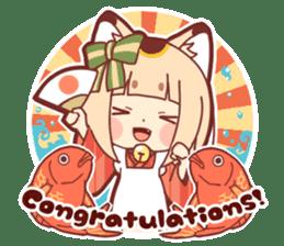 Manekineko girl sticker #10853161