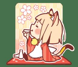 Manekineko girl sticker #10853164