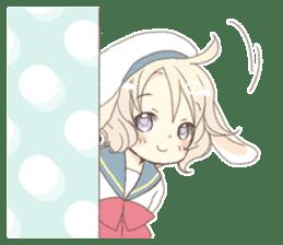 Rabbit ear boy Nicola sticker #10858292