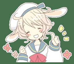 Rabbit ear boy Nicola sticker #10858294