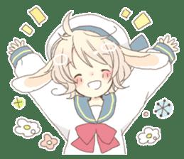 Rabbit ear boy Nicola sticker #10858296