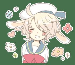 Rabbit ear boy Nicola sticker #10858297