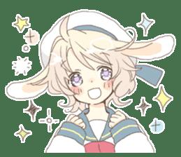 Rabbit ear boy Nicola sticker #10858298