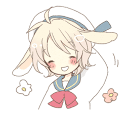 Rabbit ear boy Nicola sticker #10858299