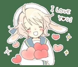 Rabbit ear boy Nicola sticker #10858301