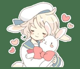 Rabbit ear boy Nicola sticker #10858302