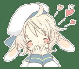 Rabbit ear boy Nicola sticker #10858303