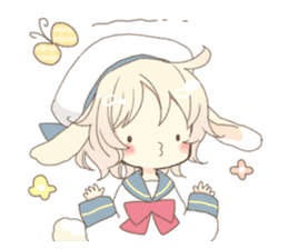 Rabbit ear boy Nicola sticker #10858306