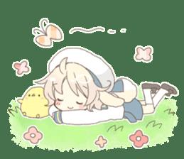 Rabbit ear boy Nicola sticker #10858307