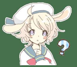 Rabbit ear boy Nicola sticker #10858309