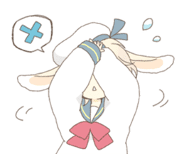 Rabbit ear boy Nicola sticker #10858311