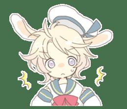 Rabbit ear boy Nicola sticker #10858312